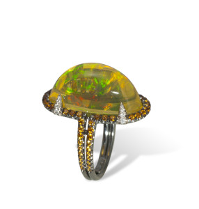 Gregoré Morin - Gothic Opal Ring