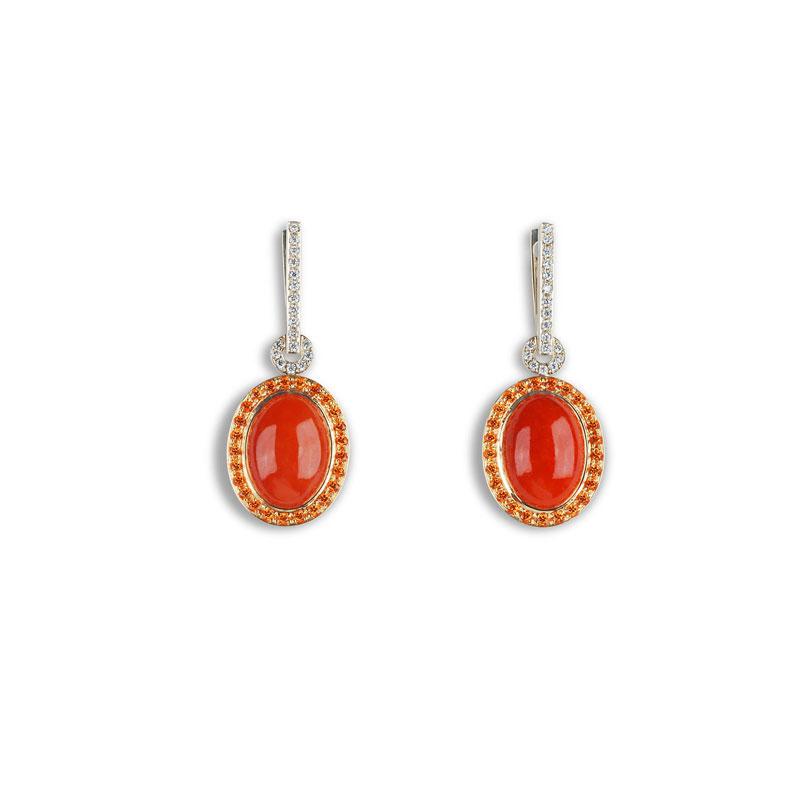 Jennifer Rabe Morin - Jade Red Drop Earring