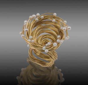 Submission by Alan Revere for the 2007 spiral American Jewelry Design Council Project