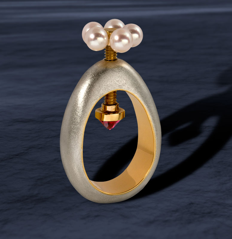 Submission by Alan Revere for the 2008 tension American Jewelry Design Council Project