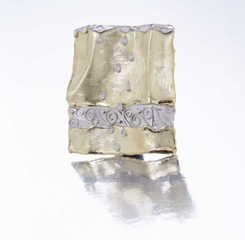 Submission by Alishan Halebian for the 2000 water American Jewelry Design Council Project