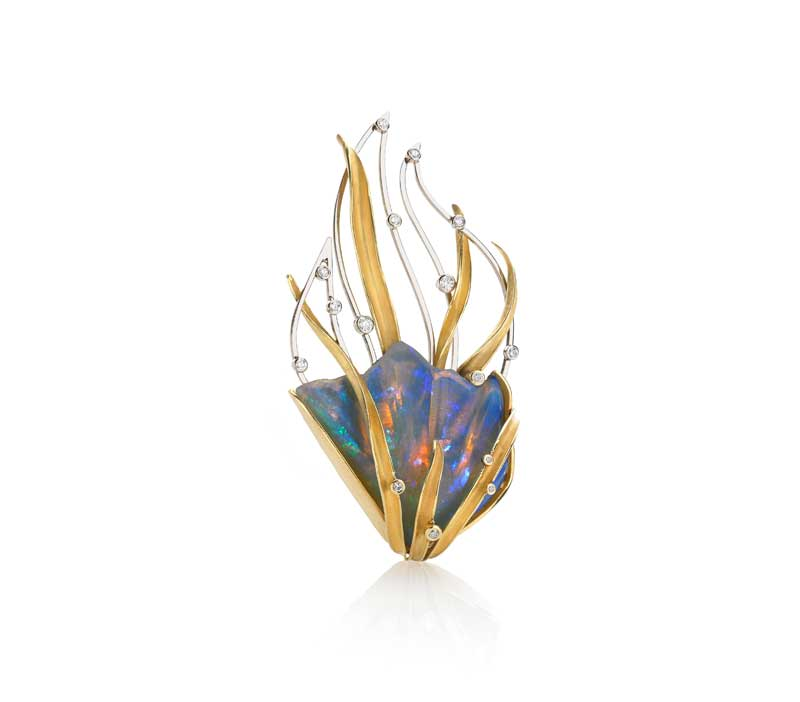 Submission by Barbara Heinrich for the 2015 fire American Jewelry Design Council Project