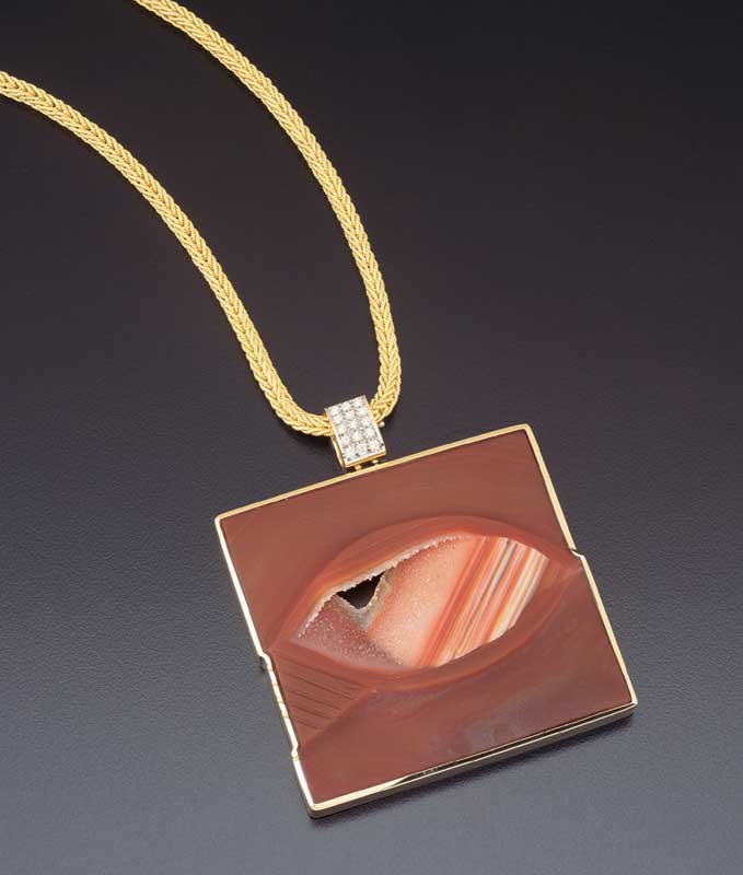 Submission by Barbara Westwood for the 2002 peekaboo American Jewelry Design Council Project