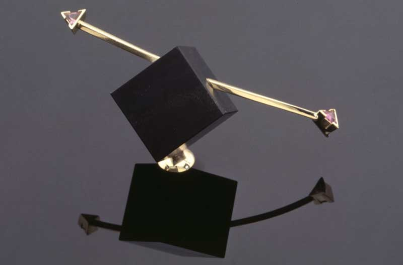 Submission by Cornelis Hollander for the 1996 cube American Jewelry Design Council Project