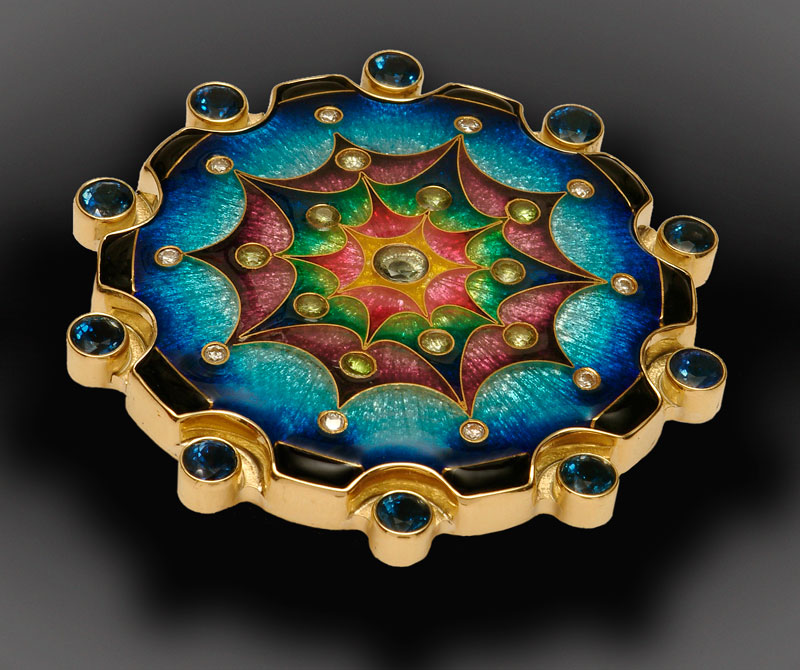 Submission by Falcher Fusager for the 2006 secret treasure American Jewelry Design Council Project