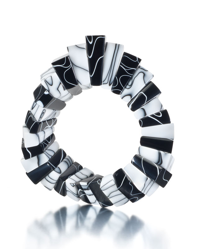 Submission by George Sawyer for the 2011 black and white American Jewelry Design Council Project