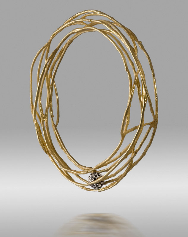 Submission by John Iversen for the 2008 tension American Jewelry Design Council Project
