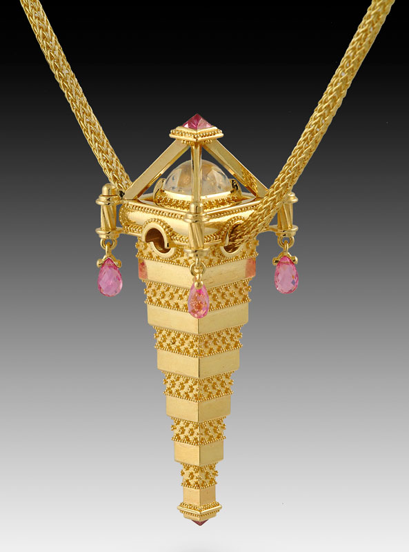 Submission by Kent Raible for the 2005 pyramid American Jewelry Design Council Project