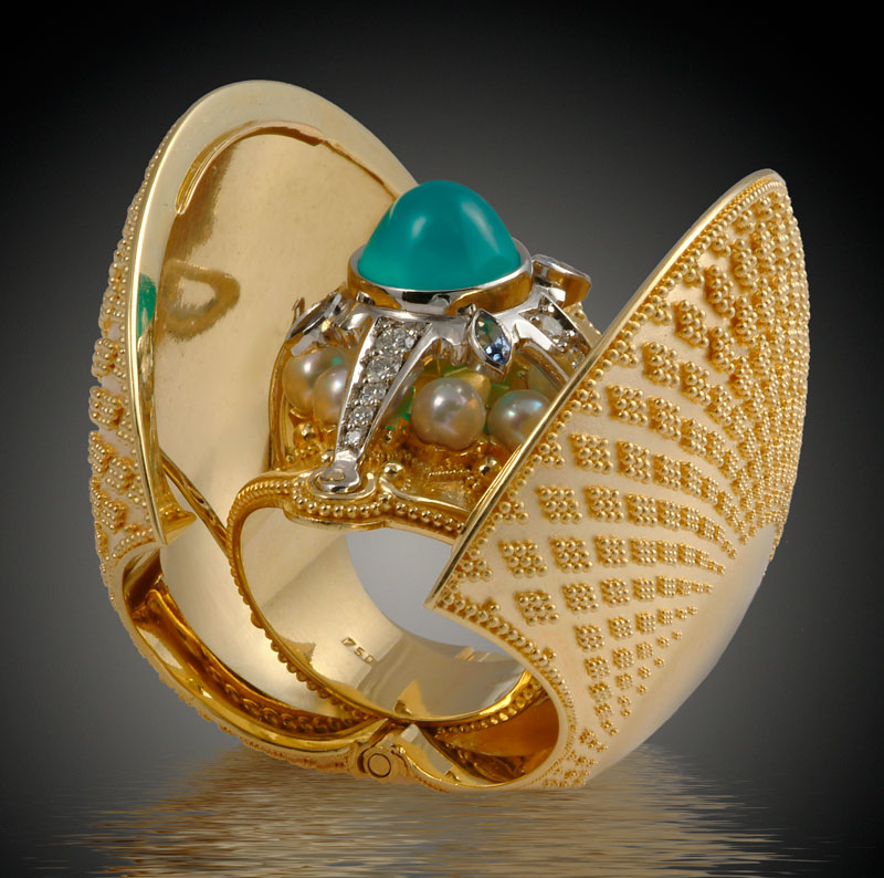 Submission by Kent Raible for the 2006 secret treasure American Jewelry Design Council Project