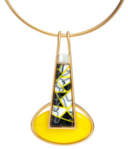 Submission by Linda Macneil for the 2011 black and white American Jewelry Design Council Project