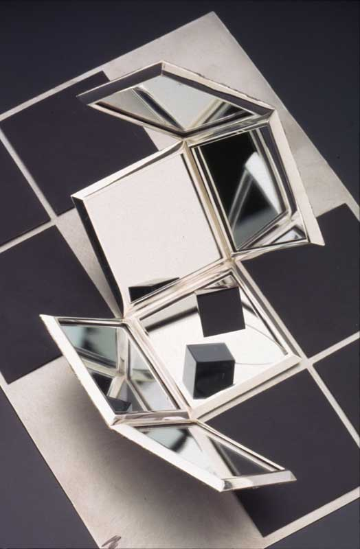 Submission by Michael Bondanza for the 1996 cube American Jewelry Design Council Project