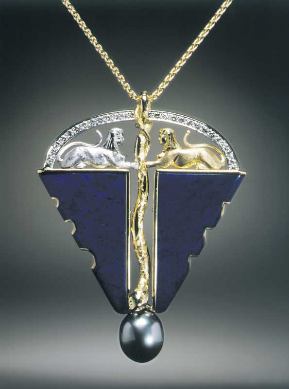 Submission by Michael Bondanza for the 1998 key American Jewelry Design Council Project