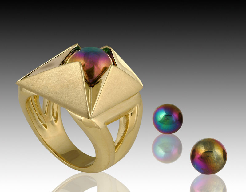 Submission by Ron Hartgrove for the 2005 pyramid American Jewelry Design Council Project