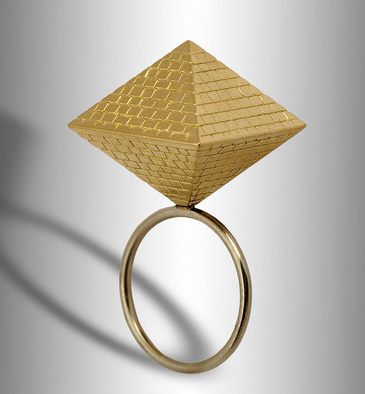 Submission by Scott Keating for the 2005 pyramid American Jewelry Design Council Project