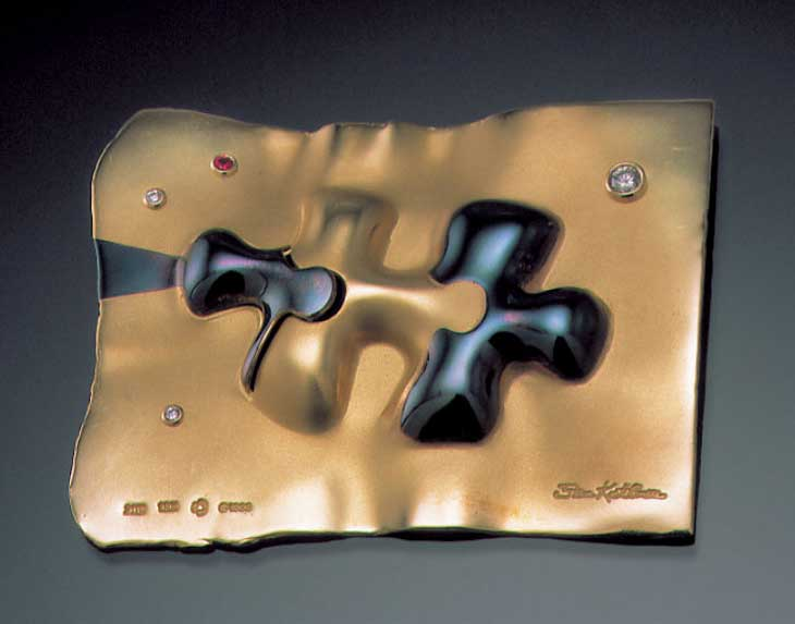 Submission by Steven Kretchmer for the 1999 puzzle American Jewelry Design Council Project