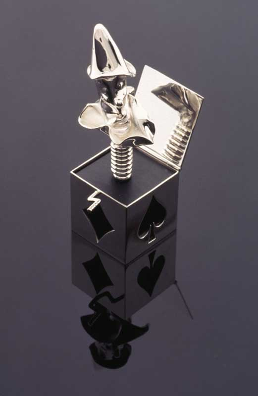 Submission by Susan Helmich for the 1996 cube American Jewelry Design Council Project