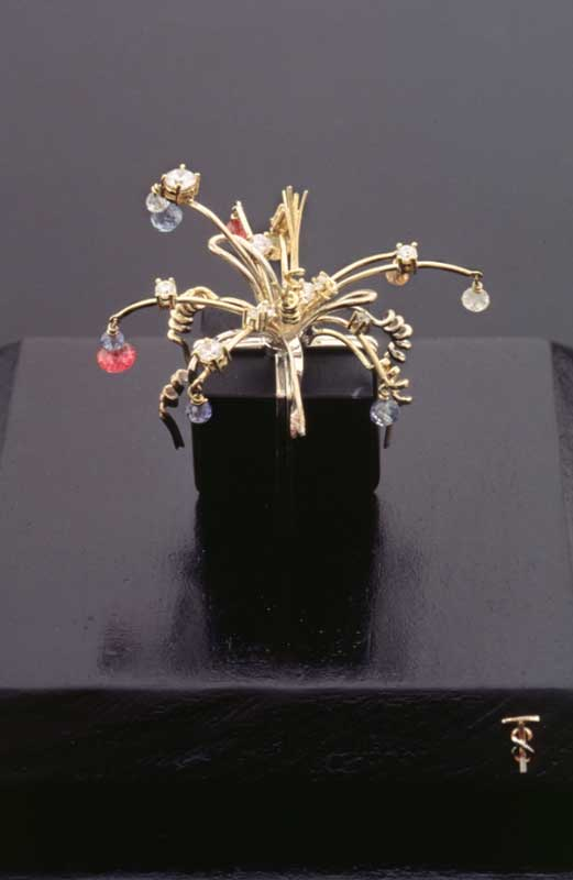 Submission by Tina Segal for the 1996 cube American Jewelry Design Council Project