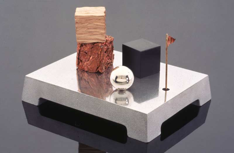 Submission by Whitney Boin for the 1996 cube American Jewelry Design Council Project