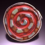 Pin Spiral Matt Red And Snake For E Mail