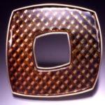 Pin Square Brown Corrugated Large