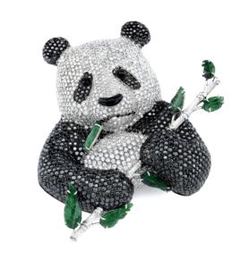 RB Panda Brooch