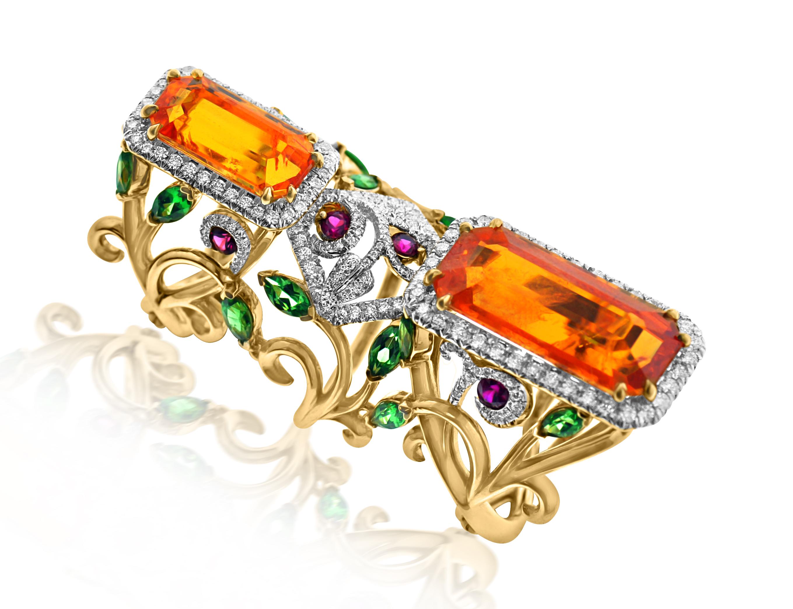 Spessartine 'Poppy Ring'