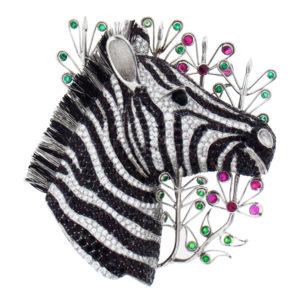 Zebra Brooch